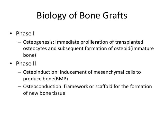 Bone Marrow Aspirate• Osteogenic  – Mesenchymal stem cells (osteoprogenitor cells)    exist in a 1:50,000 ratio to nucleat...