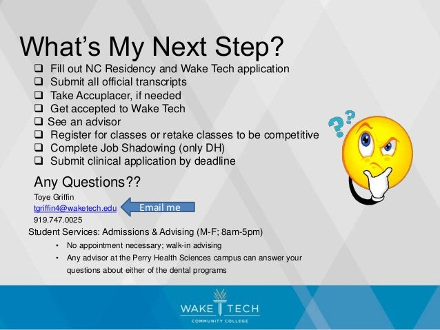 Wake Technical Community College Dental Information Session