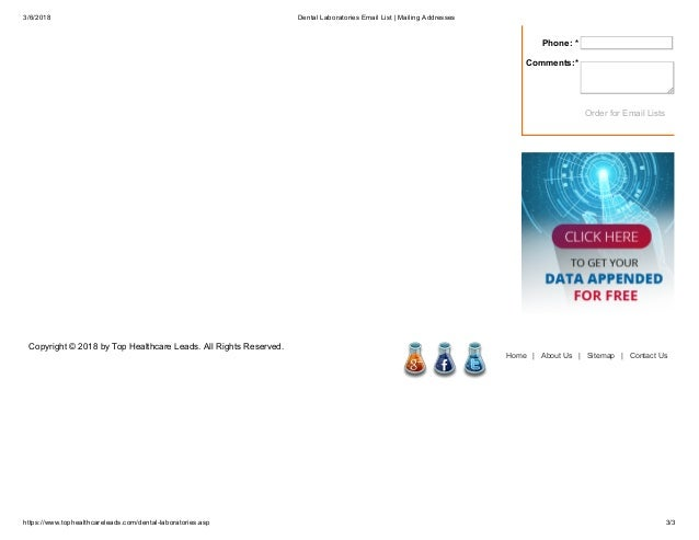 DentalL Laboratories Email List