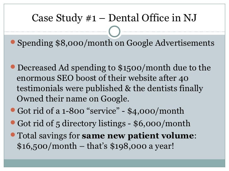 dental case studies The dental school's clinic is located at 2124 cornell road on the case western reserve campus in cleveland read more here ommds faculty members featured at ohio dental association annual session.