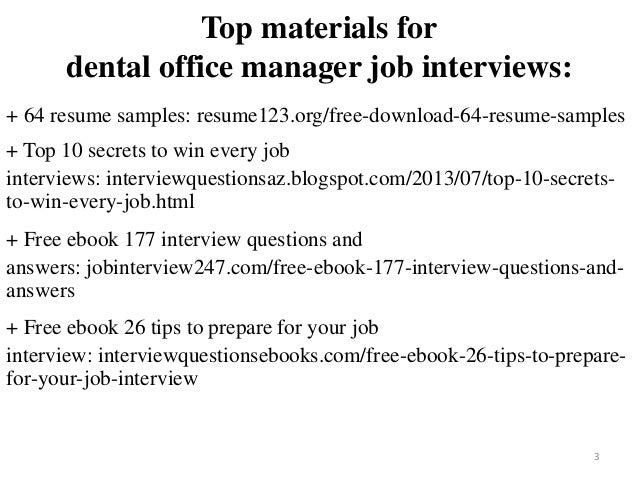 Dental Office Manager Resume Sample Pdf Ebook