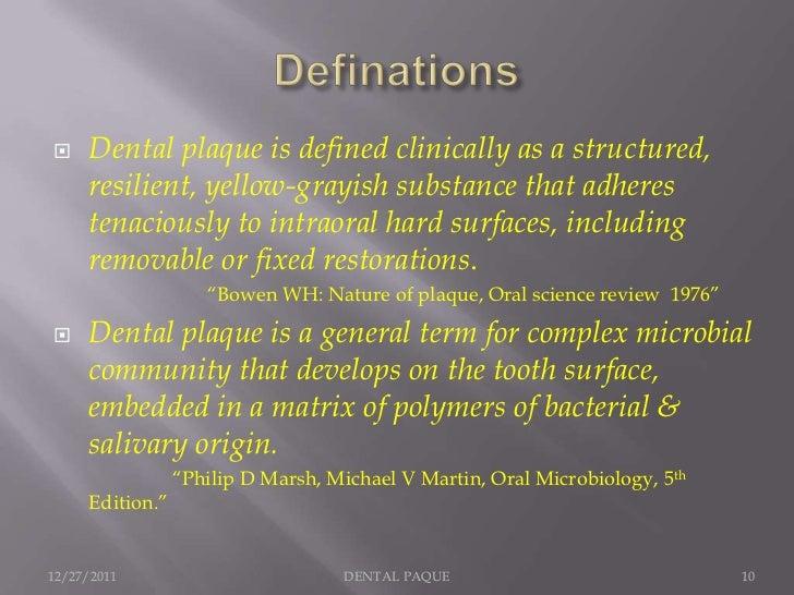 Dental plaque 1 - Plaque de finition ...