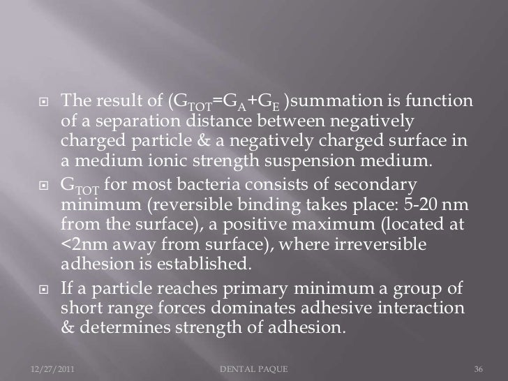     The result of (GTOT=GA+GE )summation is function      of a separation distance between negatively      charged partic...