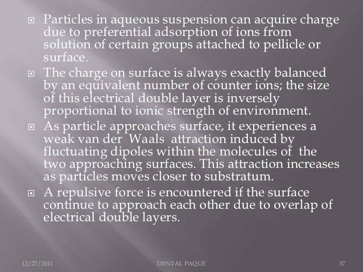     Particles in aqueous suspension can acquire charge      due to preferential adsorption of ions from      solution of ...