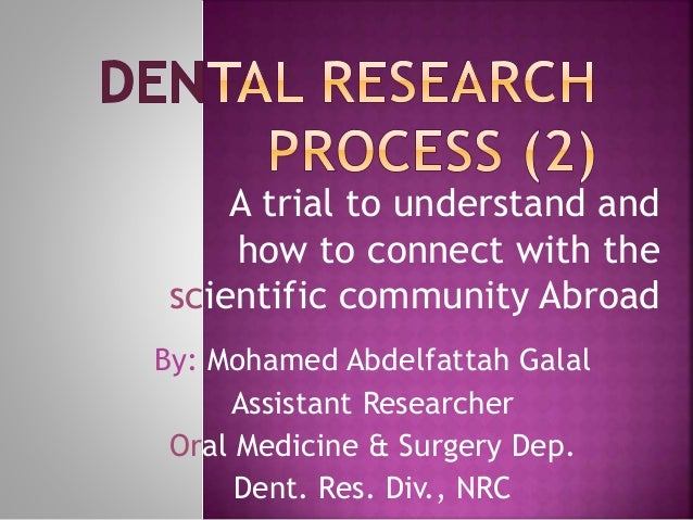 A trial to understand and how to connect with the scientific community Abroad By: Mohamed Abdelfattah Galal Assistant Rese...