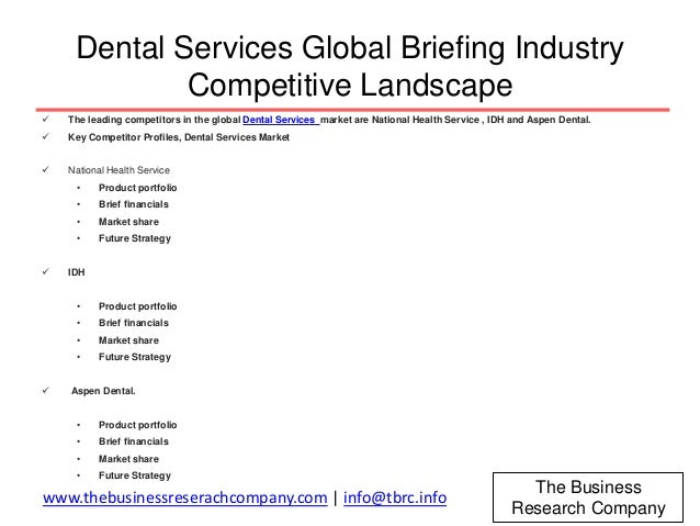 Dental Services Global Market Briefing 2016 ( http://bit ly