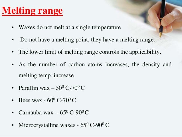 at what temperature does paraffin wax melt