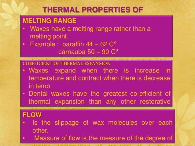 Dental waxes\dental materials ppt
