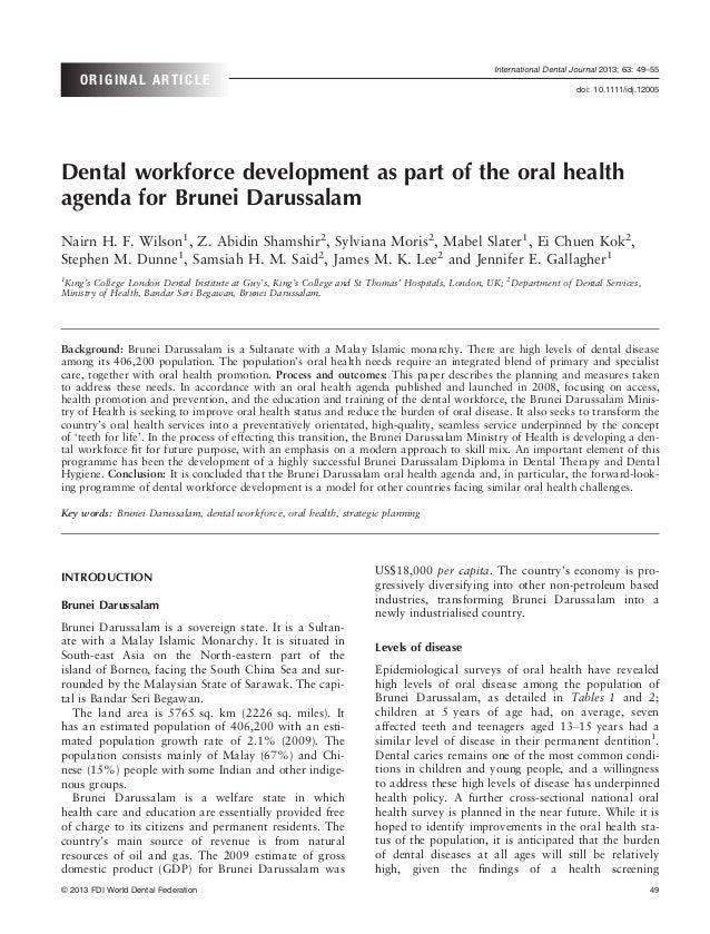 International Dental Journal 2013; 63: 49–55    ORIGINAL ARTICLE                                                          ...