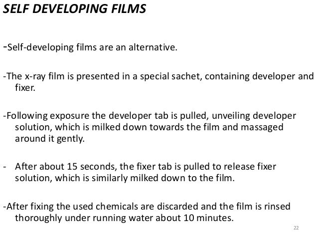 Dental x-ray film processing ppt video online download.