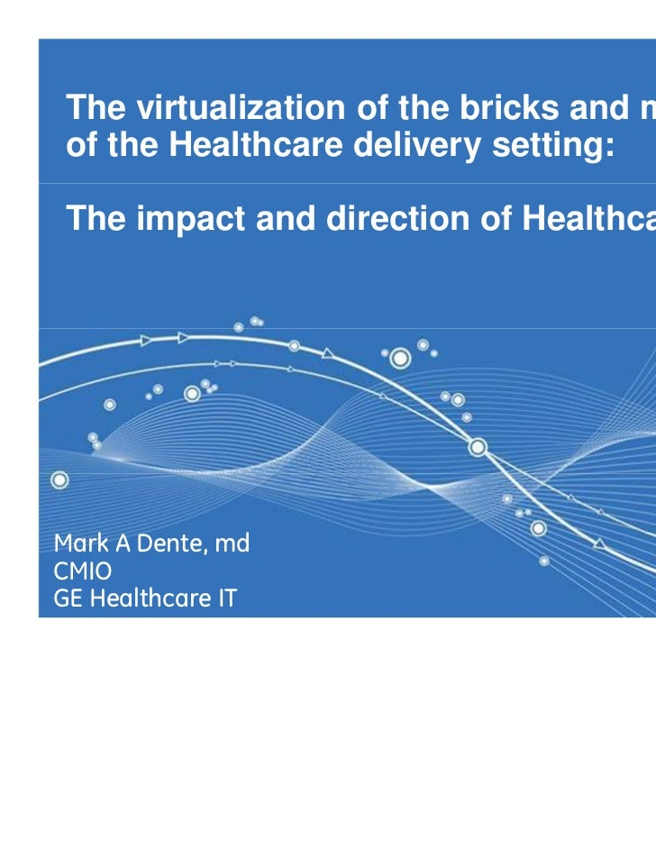 The virtualization of the bricks and mortar of the Healthcare delivery setting: The impact and direction of Healthcare ITM...