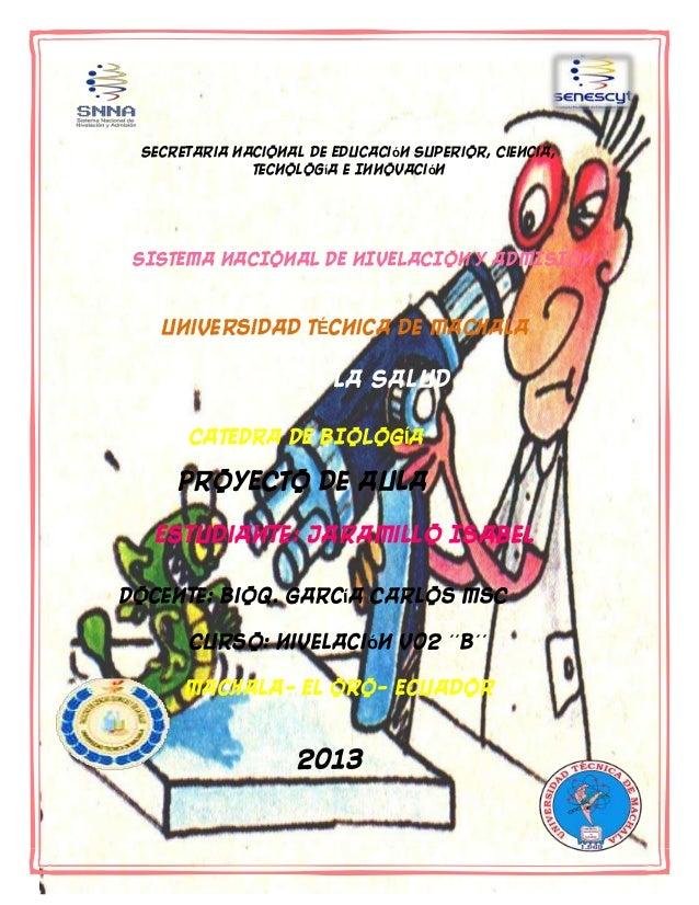 Autor: Isabel Jaramillo Página 1 Secretaria Nacional de Educación Superior, Ciencia, Tecnología e Innovación SISTEMA NACIO...