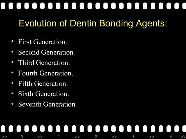 >> 0 >> 1 >> 2 >> 3 >> 4 >> Evolution of Dentin Bonding Agents: • First Generation. • Second Generation. • Third Generatio...