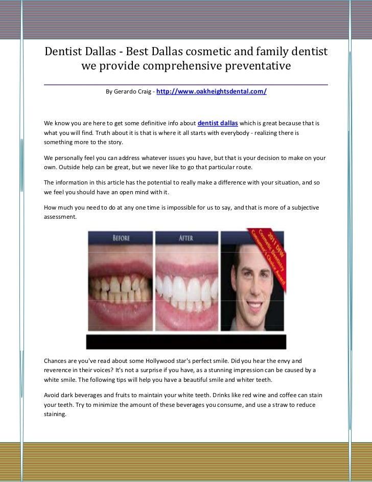 Dentist Dallas - Best Dallas cosmetic and family dentist        we provide comprehensive preventative_____________________...