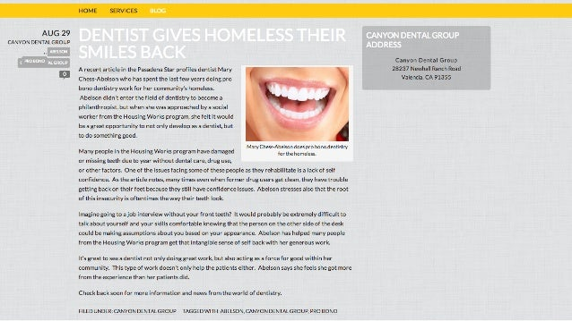 Dentist Gives Homeless Their Smiles Back