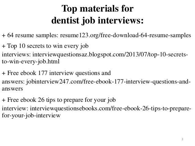 Dentist Resume Sample Pdf Ebook Free Download
