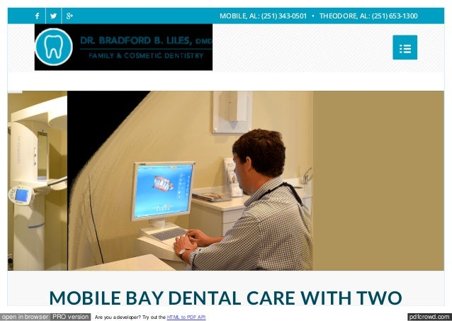 pdfcrowd.comopen in browser PRO version Are you a developer? Try out the HTML to PDF API MOBILE BAY DENTAL CARE WITH TWO ...