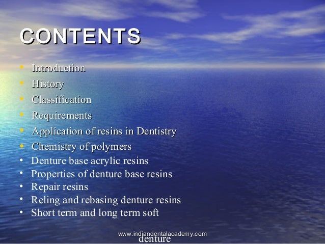 CONTENTSCONTENTS • IntroductionIntroduction • HistoryHistory • ClassificationClassification • RequirementsRequirements • A...