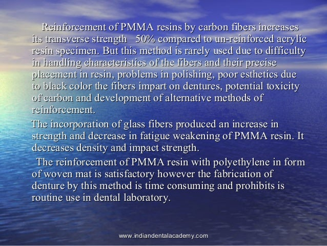 Reinforcement of PMMA resins by carbon fibers increasesReinforcement of PMMA resins by carbon fibers increases its transve...