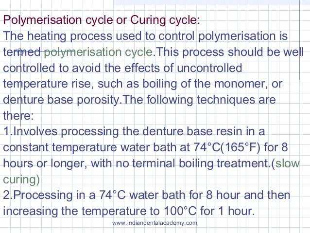 Polymerisation cycle or Curing cycle: The heating process used to control polymerisation is termed polymerisation cycle.Th...