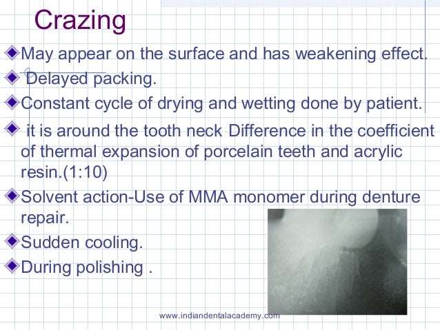 Crazing May appear on the surface and has weakening effect. Delayed packing. Constant cycle of drying and wetting done by ...