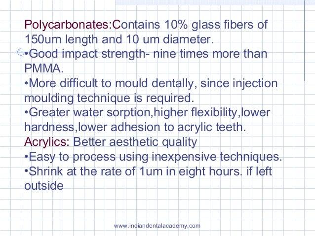 Polycarbonates:Contains 10% glass fibers of 150um length and 10 um diameter. •Good impact strength- nine times more than P...