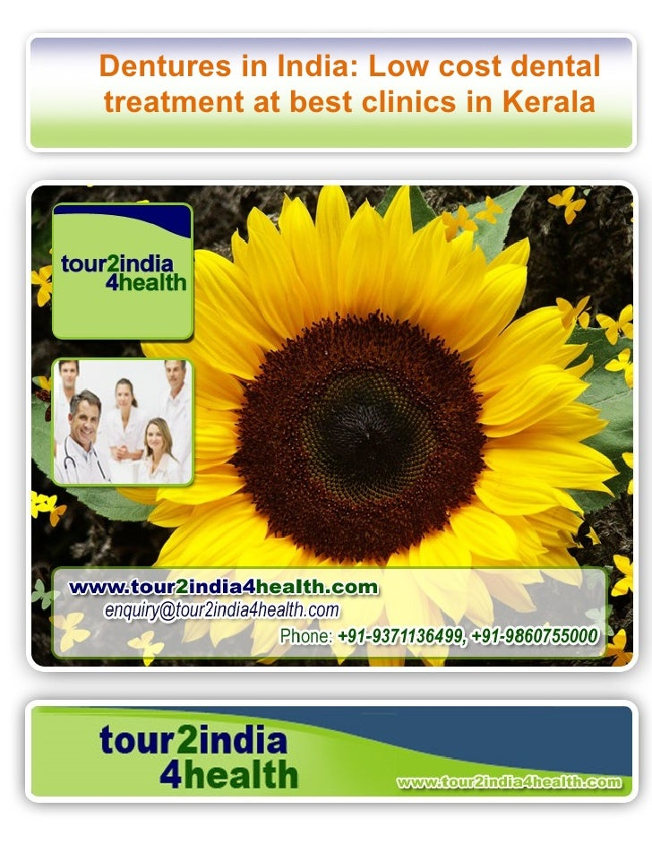 Dentures in India: Low cost dental treatment at best clinics in Kerala
