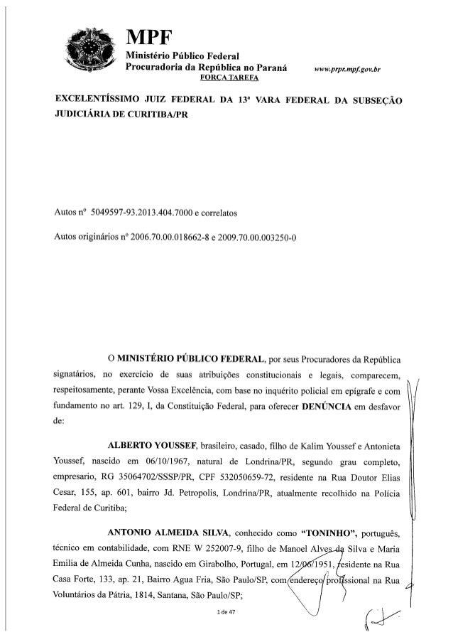 A íntegra da denúncia da Procuradoria contra a Petrobras