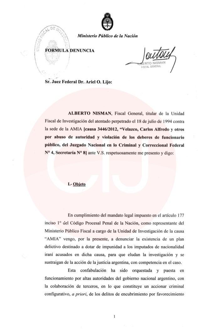 Ja' Ministerio Público de la Nación  FÓRMULA ¿DENUNCIA          í_——— ERTO NlSNllXN  Liï-¿('AL GíNÉïlPL  Sr.  Juez Federal...