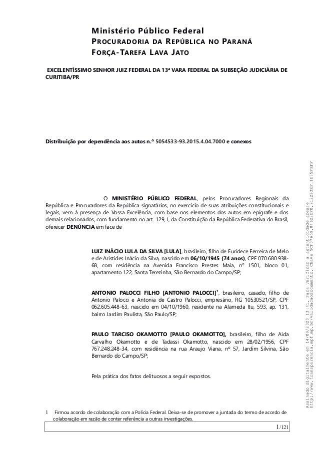 Ministério Público Federal PROCURADORIA DA REPÚBLICA NO PARANÁ FORÇA-TAREFA LAVA JATO EXCELENTÍSSIMO SENHOR JUIZ FEDERAL D...