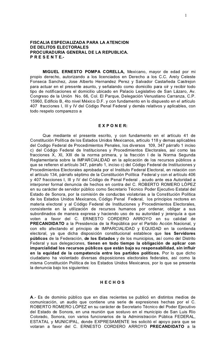 1FISCALIA ESPECIALIZADA PARA LA ATENCIONDE DELITOS ELECTORALESPROCURADURIA GENERAL DE LA REPUBLICA.P R E S E N T E.-      ...