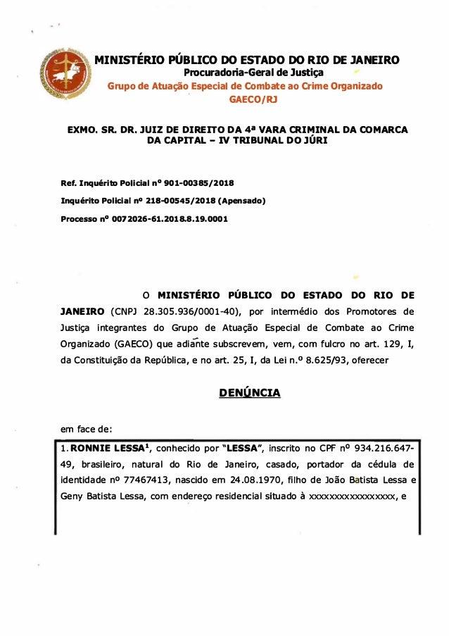 , , ___,,_ MINISTERIO PUBLICO DO ESTADO DO RIO DE JANEIRO Procuradoria-Geral de Justiça Grupo de Atuação , Especial de Com...