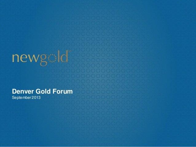 Denver Gold Forum September2013