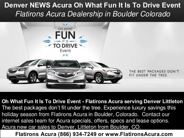Acura Dealership Denver >> Denver News L Acura Oh What Fun It Is To Drive Event Near Littleton