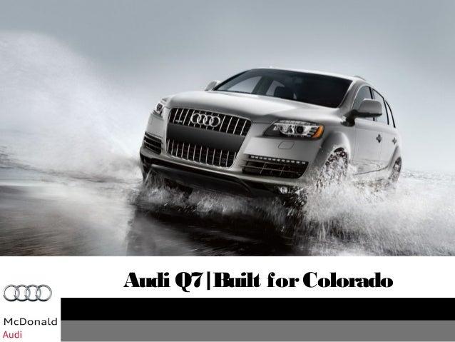 Denver Audi Q - Mcdonald audi