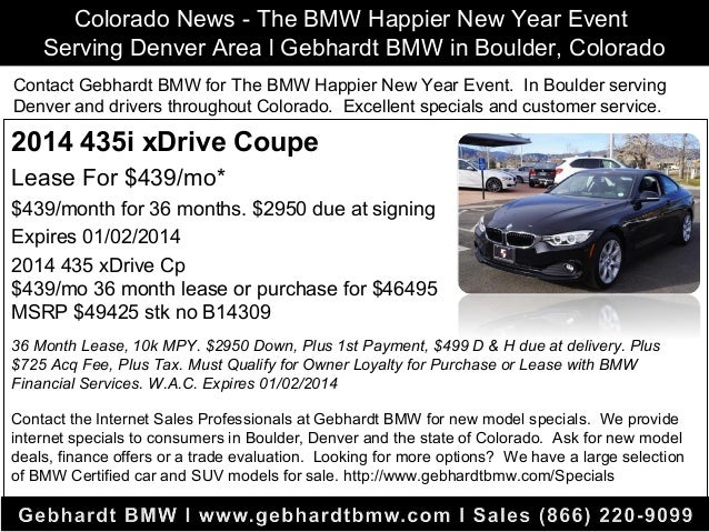 Bmw 435 Lease >> Denver Colorado News L The Bmw Happier New Year Event