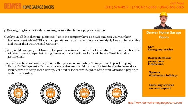 Presentation on the best garage door service provider in denver emergency service 4 solutioingenieria Gallery