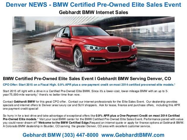 Bmw Certified Pre Owned Warranty >> Denver News Bmw Certified Pre Owned Elite Sales Event