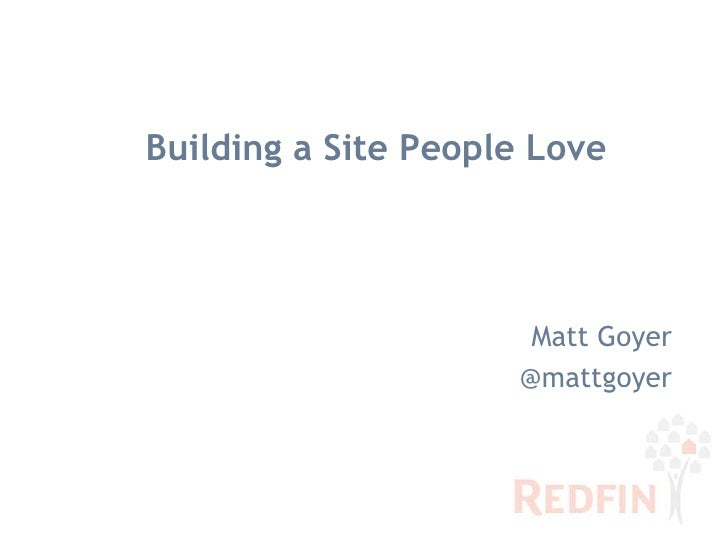 Building a Site People Love<br />Matt Goyer<br />@mattgoyer<br />