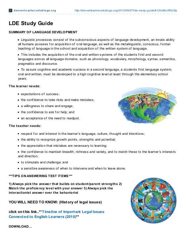 denvert eacher.edublogs.org http://denverteacher.edublogs.org/2012/06/27/lde-study-guide/#.UXx6bLWG2SpLDE Study GuideSUMMA...