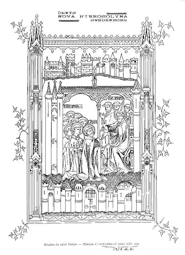 - --- DENYS ...~ NOVA HIEROSOLYMA ~~~~~> SWEDENBORG fllission Je saint Dcnys. - !liniatul'c du manuscrit 2090, Bit'I. na!....
