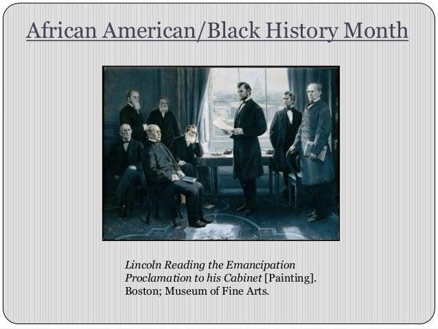 African American/Black History Month Presentation
