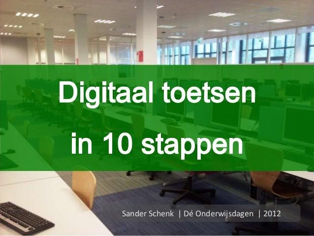 Sander Schenk | Dé Onderwijsdagen | 2012