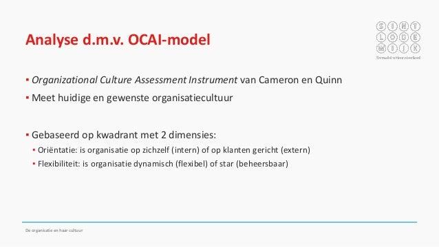 De organisatie en haar cultuur for Organizational culture assessment instrument template