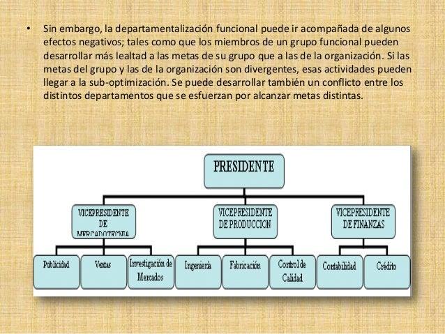Departamentalizacion y tipos for Cuales son las caracteristicas de la oficina