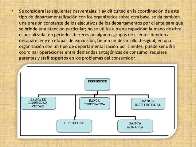 Departamentalizacion y sus tipos for Practica de oficina concepto