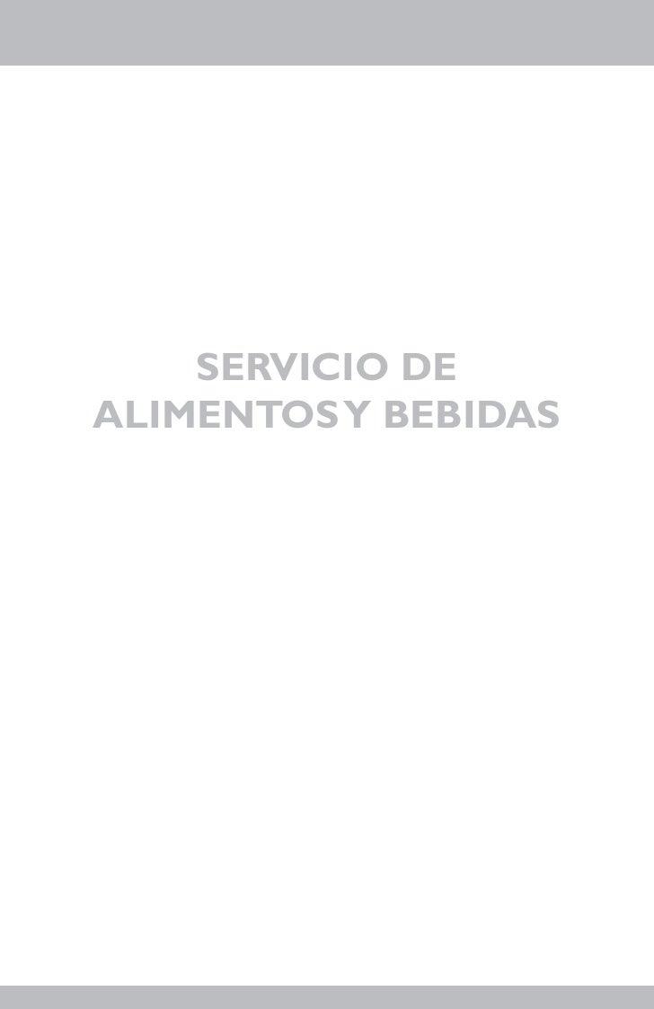 SERVICIO DEALIMENTOS Y BEBIDAS