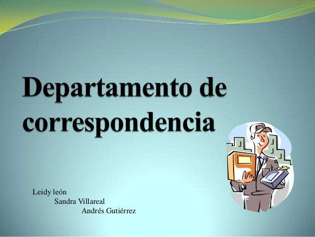 Leidy leónSandra VillarealAndrés Gutiérrez