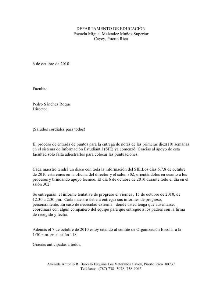 DEPARTAMENTO DE EDUCACIÓN                        Escuela Miguel Meléndez Muñoz Superior                                  C...