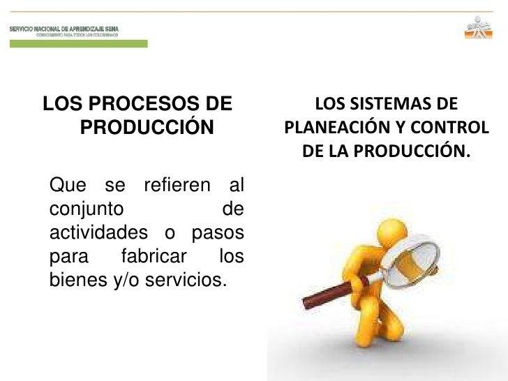 LOS PROCESOS DE              LOS SISTEMAS DE   PRODUCCIÓN             PLANEACIÓN Y CONTROL                            DE L...